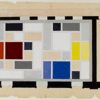 Theo van Doesburg. Café Aubette, definitive colour design for the ceiling of the Grand Hall, 1927. Collection Het Nieuwe Instituut, DOES ab5168.