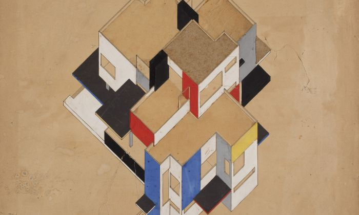 C. van Eesteren and Th. van Doesburg. Design for a Maison Particulière, 1923. Collection Het Nieuwe Instituut, EEST 3-181